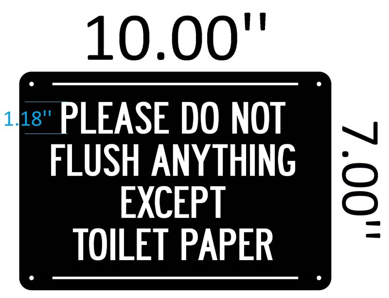 Brand New Please Do Not Flush Signs Yx04