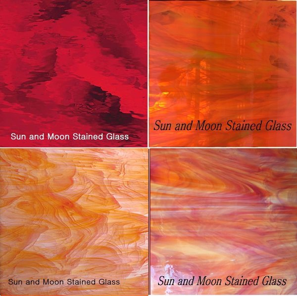 RED Spectrum Stained Glass Pack | Sun and Moon Stained Glass