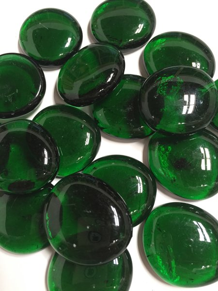 Lg Dark Green Glass Gems Nuggets Pebbles Mosaic Tiles Sun And Moon Stained Glass