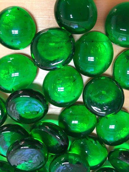 Med Dark Green Glass Gems Marbles Pebbles Mosaic Tiles