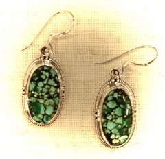 Turquoise Earrings from Nepal