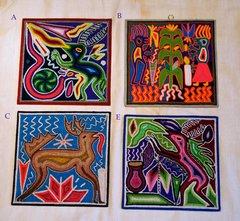 "Yarn paintings (medium - 8"" x 8"")"