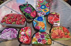 Medium Embroidered Padded Bags - Floral Theme