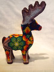 Huichol Beaded Deer