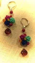 3 Roses Earrings