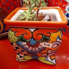 """Japanese"" Style Talavera Planter"