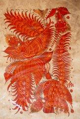 Amate Painting - Orange