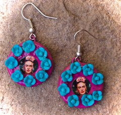 Frida Kahlo Flower Earrings