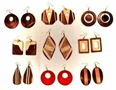 Wood Earrings from Peru