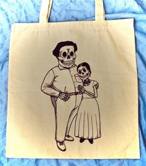 Frida and Diego Canvas Tote