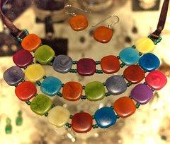 Rainbow Tagua Necklace