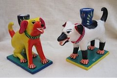 Dog Pals Candlesticks