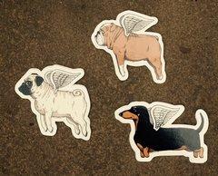 Dog Angel Vinyl Stickers