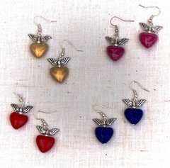 Hearts with Wings Earrings