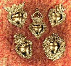 Silver Tin Hearts