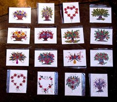 Flower cards - small