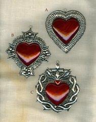 Tin hearts - medium