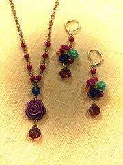 Violet Rose Necklace