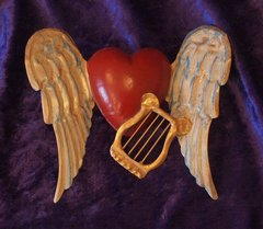 Tin winged Heart with Harp
