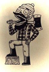 Lumberjack Canvas Tote
