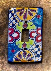 Talavera Switch plate - single