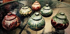 Small Lidded Pots from Nicaragua