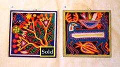 "Yarn paintings - (small - 6"" x 6"")"