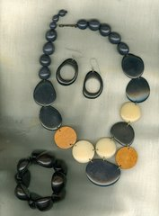 Tagua and Teak Necklace