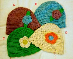 Organic Cotton Baby Hats - with flower