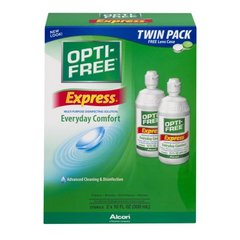 Opti-Free Solución desinfectante de uso múltiple Everyday Comfort Twin Pack,