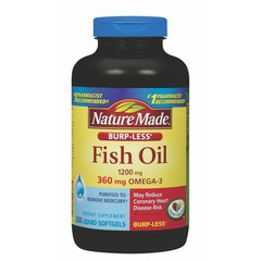 Nature Made 1.200mg de aceite de pescado sin olor Softgels con 360mg Omega-3.