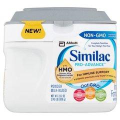 Fórmula infantil Similac Pro-Advance OptiGro con polvo de hierro a base de leche 23.2oz