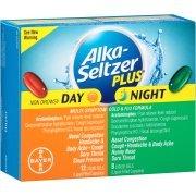 Alka-Seltzer Plus Fórmula para el resfriado y la gripe multi-síntomas de día y noche, 20 coun