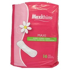Toallas Sanitarias Maxithins
