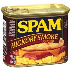 Spam carnes enlatadas sin gluten para su desayuno, merienda o cena.
