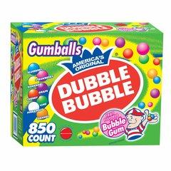 Chicles DOBLE BOMBA pelotas, caja de 850 unidades