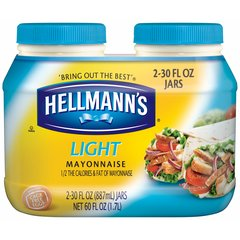 Mayonesa Light Hellmann´s (2 jarras de 30 Oz c/u)