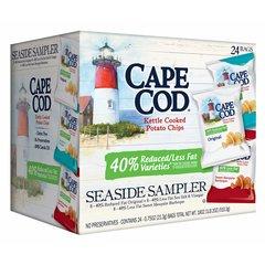 Cape Cod Kettle Cooked Chips Paquete de Variedad de Grasa Reducido, 24 Unid de 21.26 Grs.