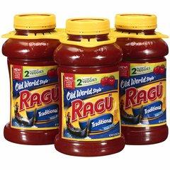 Salsa Ragú tradicional para espaguetis, 3 unidades de 1.27 Kgs C/U