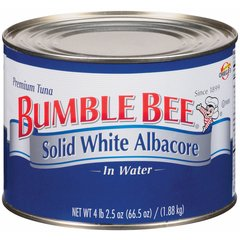 Atún blanco albacora en agua, marca Bumble Bee, 1.88 kgs