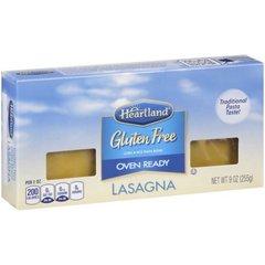 Heartland Gluten Free lista para hornear lasaña de pasta, 9 oz (255 grs)