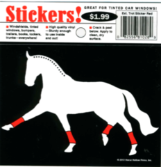 Sticker: Extended Trot with Red Wraps