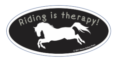 Laptop, Cell Phone & Helmet Sticker: Riding is therapy! - Item # HS Therapy