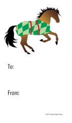 Gift Tags in BULK: Buckskin Horse in Diamond Blanket - Item # GT X 202 BULK