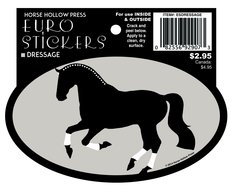 Euro Oval Sticker: Dressage Horse - Item # ES Dressage