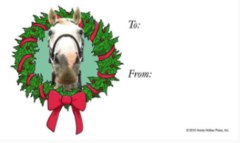 Gift Tags in BULK: Horse in Wreath - Item # GT X Wreath BULK