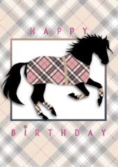 Birthday Card: Burberry Horse Happy Birthday   - Item# GC B Burberry