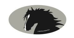 Laptop, Cell Phone & Helmet Sticker: Horse Head - Item # HS HH