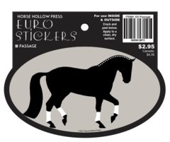 Euro Horse Oval Sticker: Passage Euro Sticker - Item # ES Passage