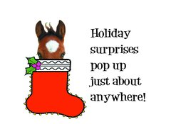Gift Card/Money Holder: Christmas Horse in Stocking - Item # GE X 8